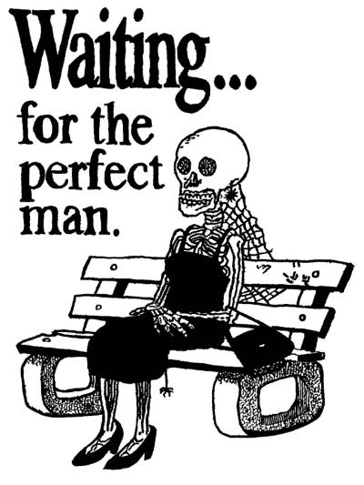 Waiting... for the perfect man. Kvinde venter på den perfekte mand