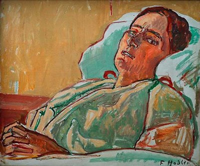 The Sick Valentine Godé-Darel by Ferdinand Hodler, 1915