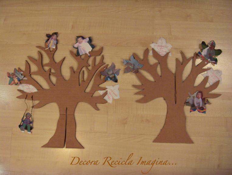 Decora recicla imagina el rbol de la vida - Como hacer un arbol de navidad de carton ...