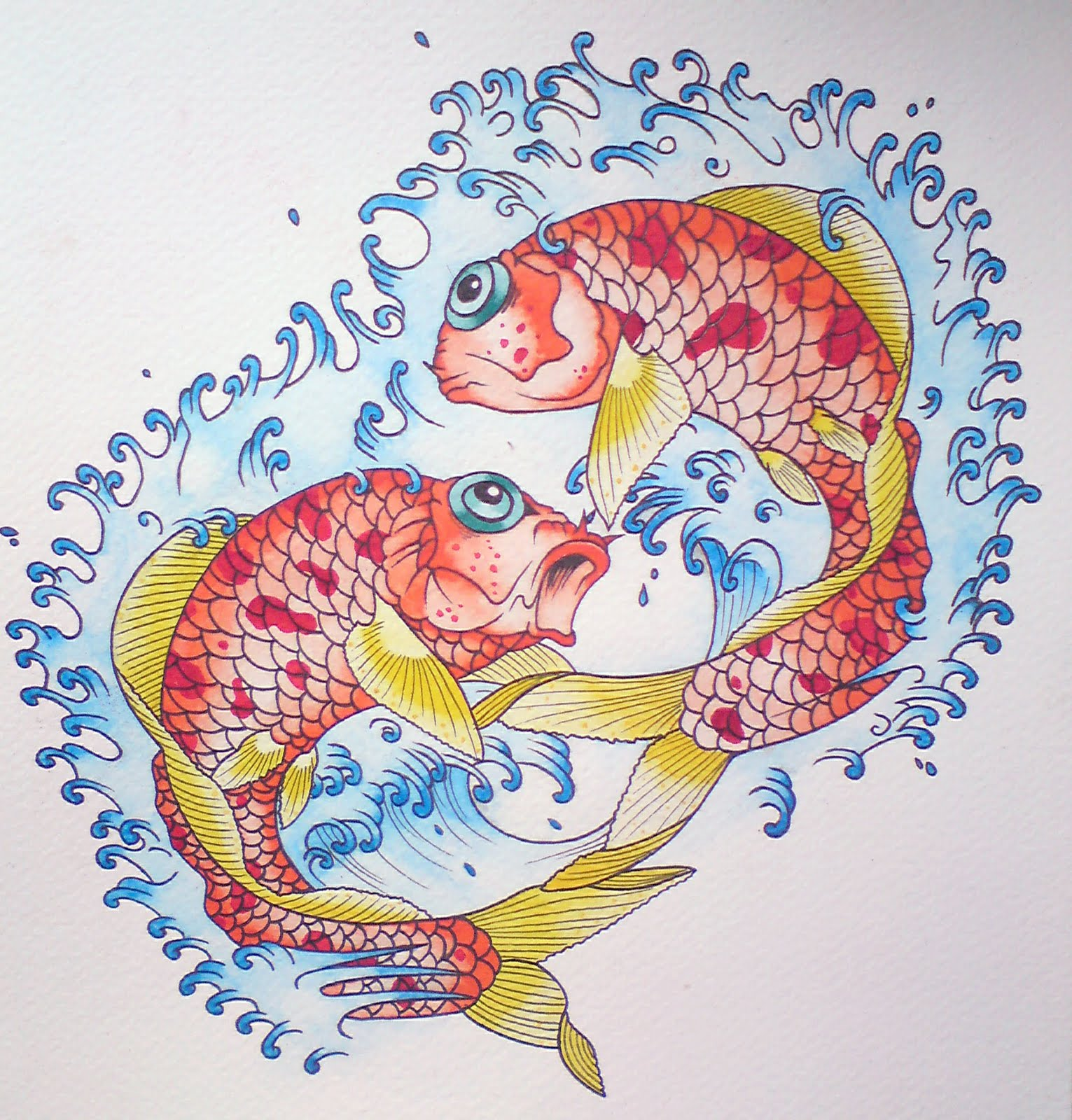 koi carp tattoo designs sleeve
