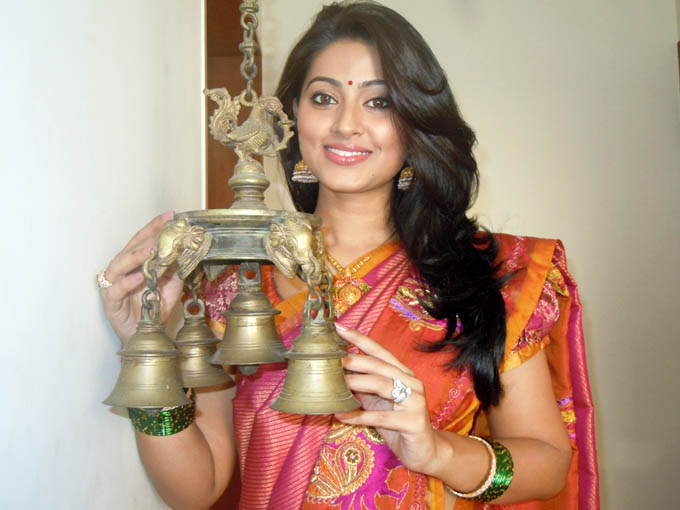 sneha pongal special traditional saree hot images