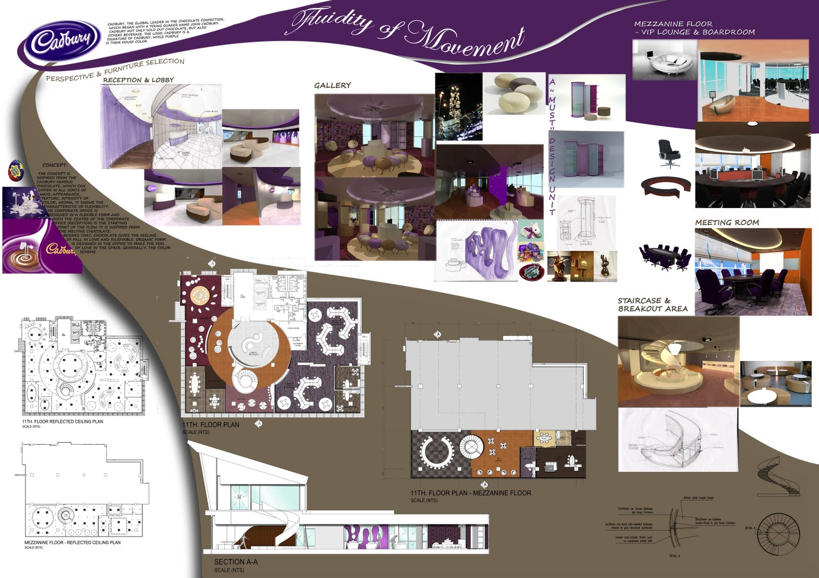Corporate office cadbury for Office design templates