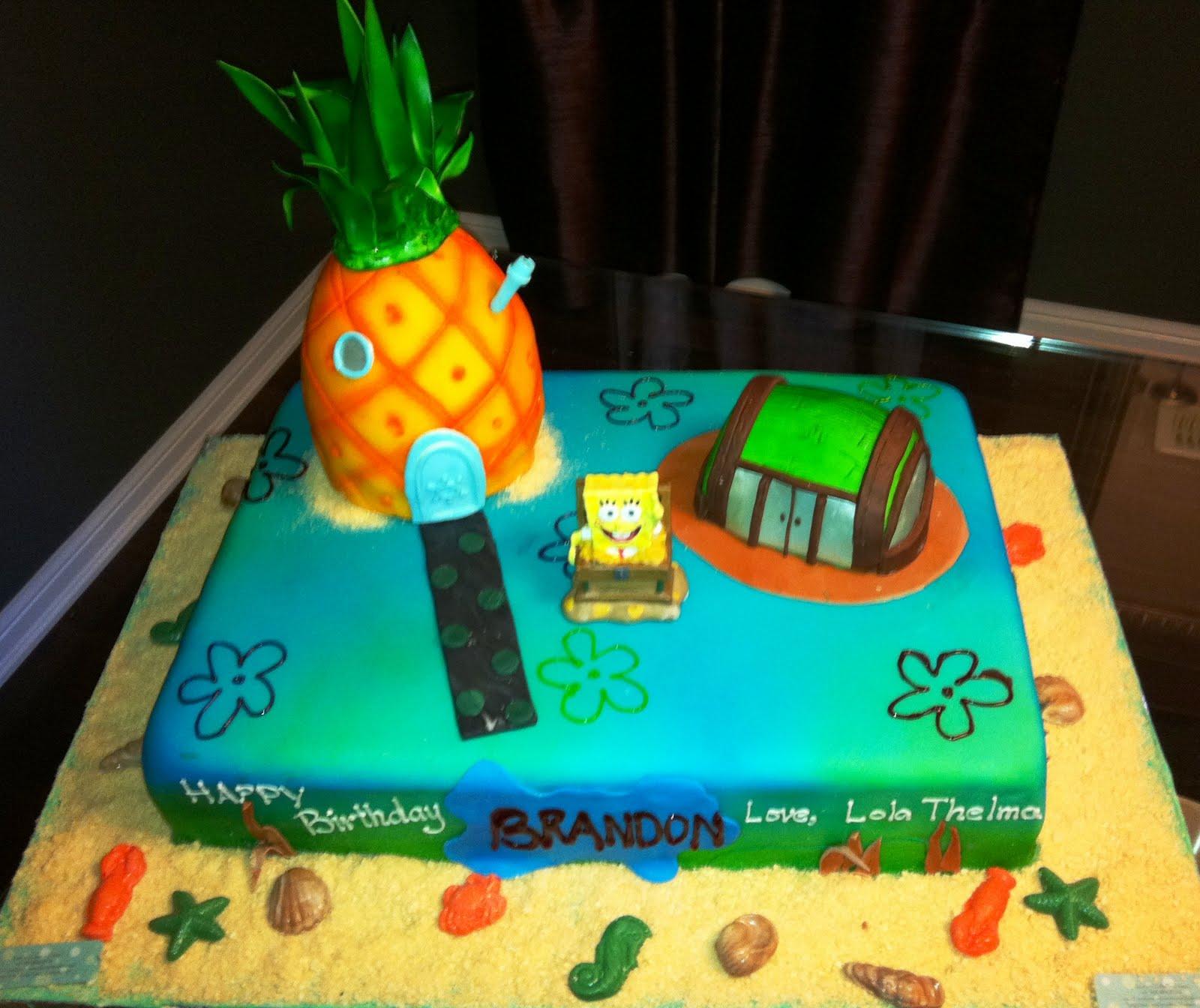 Jocelyns Wedding Cakes and More Spongebob CakeMarkham 1st