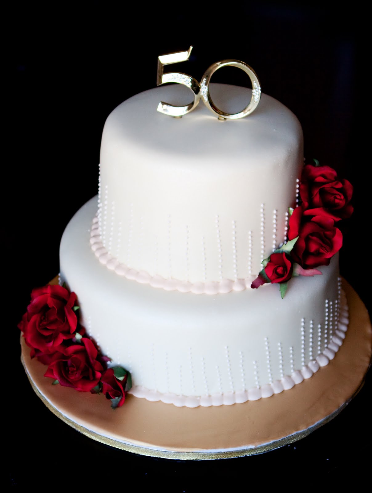 "Jocelyn s Wedding Cakes and More 50th ""Golden"