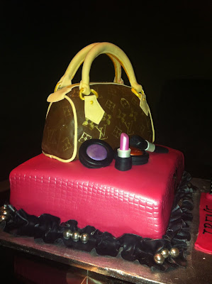 Louis Vuitton Purse Cake/Edible Purse/21st Birthday Cake