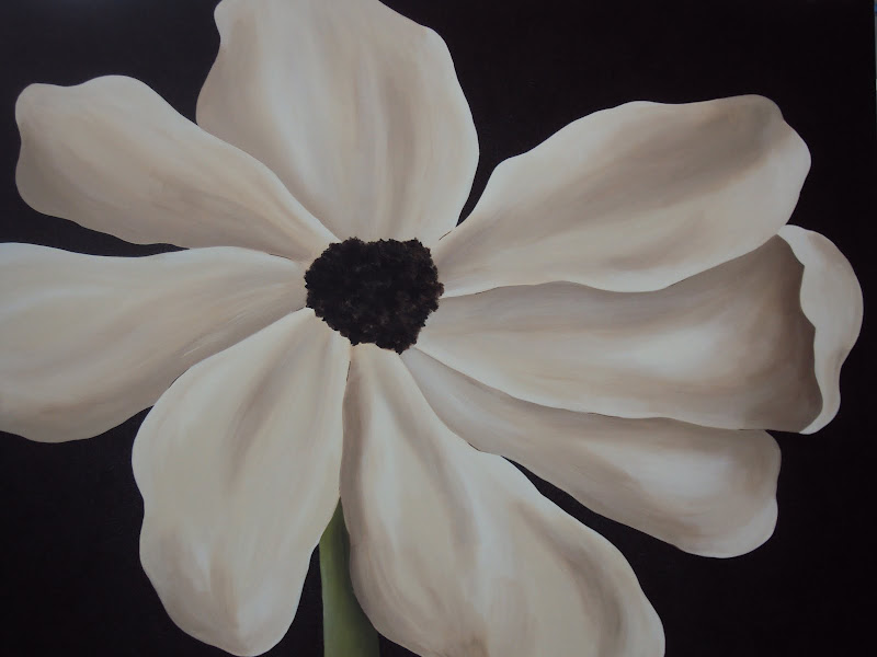 30 x 40 Simple White Bloom title=