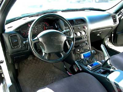 Nissan Skyline gtr Cars interior with NOS and right steering wheel
