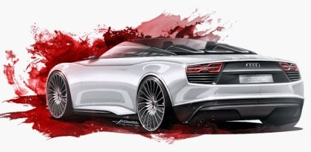 Leaked sketches Audi e-tron Spyder
