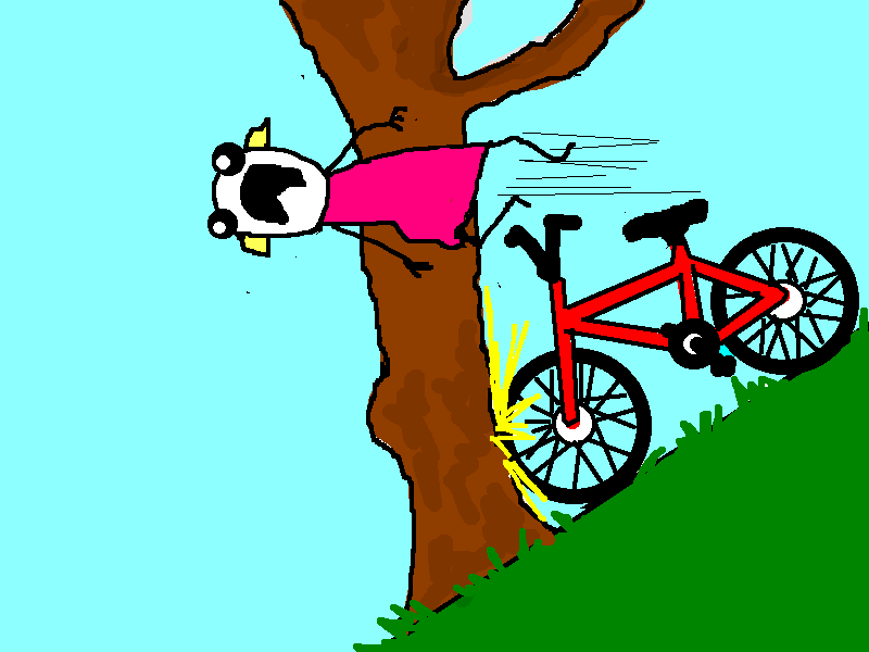 crashing into tree