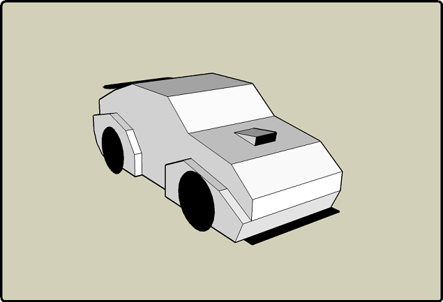 Papercraft Cars Template Basic Car Template
