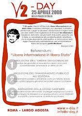 V-DAY 2 -25 APRILE - LARGO AGOSTA  - ROMA -  SE VUOI DARMI UNA MANO PER L'ORGANIZZAZIONE CONTATTAMI