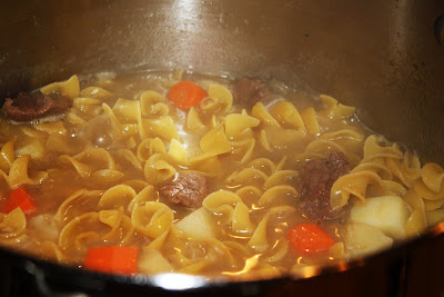 what's for dinner?: beef stew with noodles... 1 hour