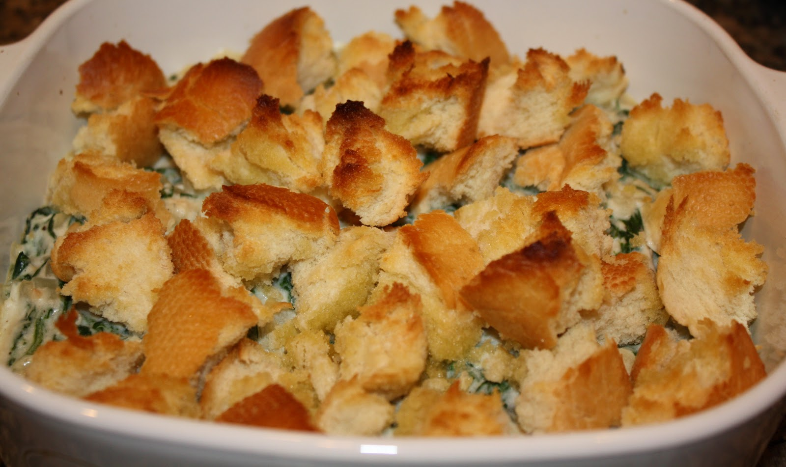 what's for dinner?: chicken and spinach casserole... 45 minutes
