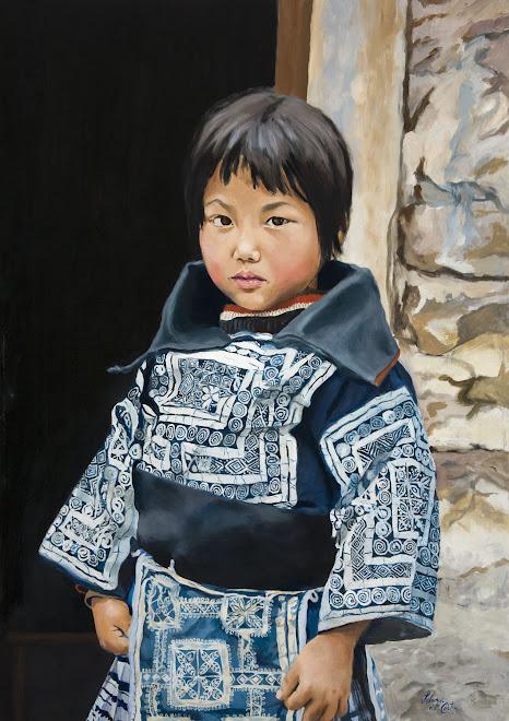 """""""Niño de la etnia china Miao"""" 70x50"""