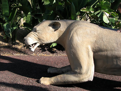 Extinct Cat Sculpture at the San Diego Zoo
