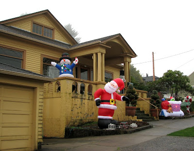 House with Christmas Decorations, Astoria, Oregon