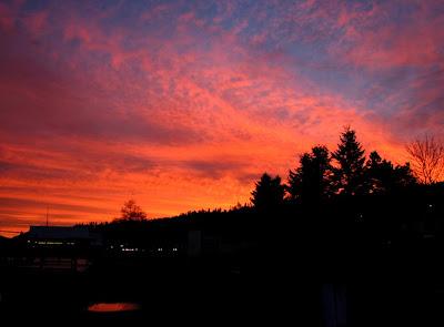 Bright Orange Sunrise, Astoria, Oregon