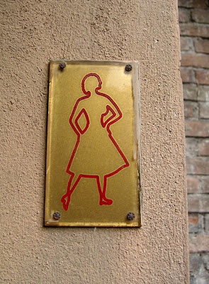 Restroom Sign at the Roman Forum