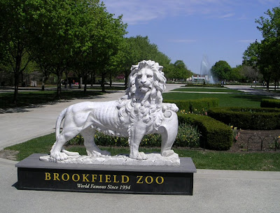 Lion Sculpture, Brookfield Zoo, Chicago
