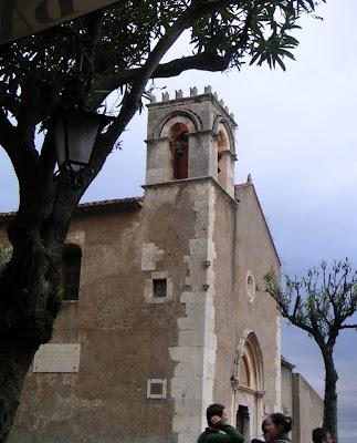 Church on the Piazza, Taormina, Sicily, Italy