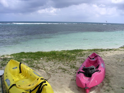Colorful Kayaks off the coast of Belize