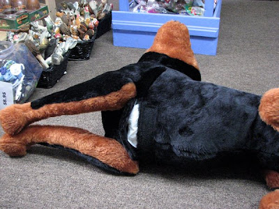 Life Sized Stuffed Toy Dog Doberman Pinscher Or Rottweiler For Reference Only This Is Gone