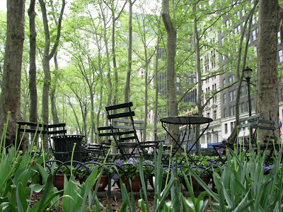 Tables and Chairs Outdoors, New York City - NYC