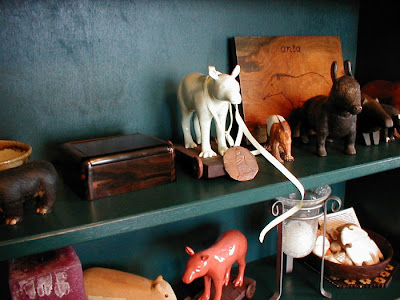 A Shelf of Tapir Art