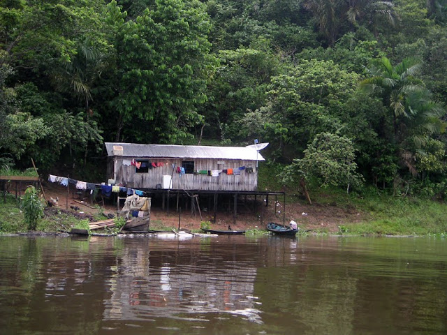 A House along the Amazon River, Brazil
