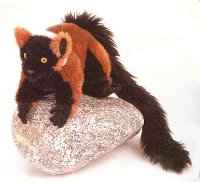 Stuffed Red-Ruffed Lemur
