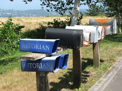 Daily Astorian and Mailboxes, Warrenton, Oregon