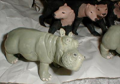 Balata rubber hippo