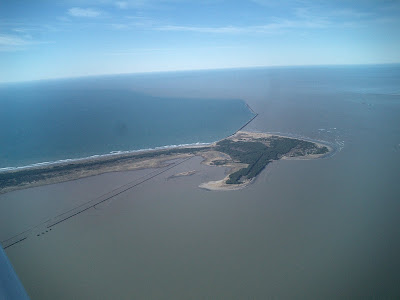 Aerial view of the Mouth of the Columbia River