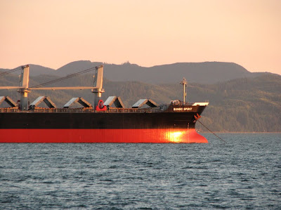 Bungo Spirit, Ship in the Columbia River, Astoria, Oregon