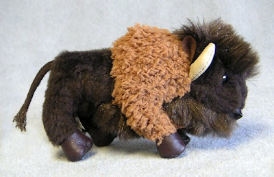 Stuffed Bison Finger Puppet by Folkmanis