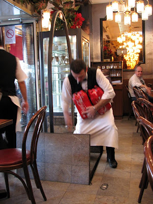 Cafe Relais Paris Opera, Loading Drinks into the Basement