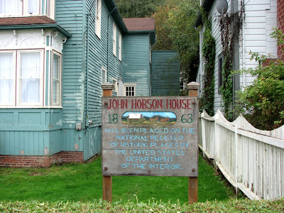 Historic Sign at the Hobson House, Astoria, Oregon
