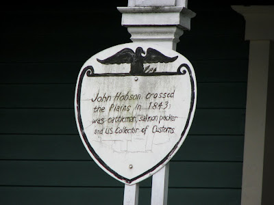 Historic Plaque on Hobson House, Astoria, Oregon