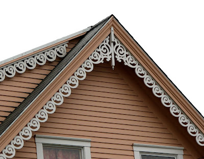 Gingerbread Trim on a Victorian House on Bond Street, Astoria, Oregon
