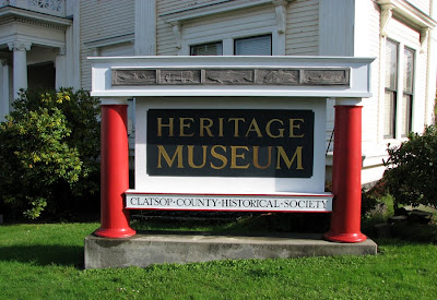 Heritage Museum Sign, Astoria, Oregon