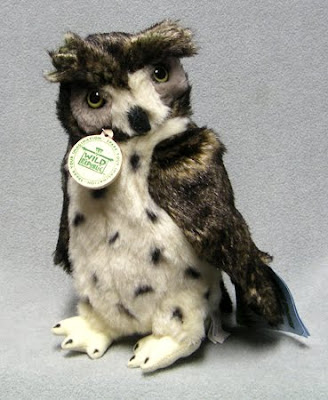 Eagle Owl Stuffed Bird Toy