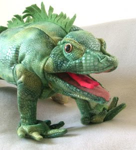 Iguana Stuffed Animal Hand Puppet from Folkmanis