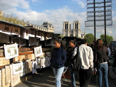 Quai St-Michel, Paris, Street Vendors with Stalls