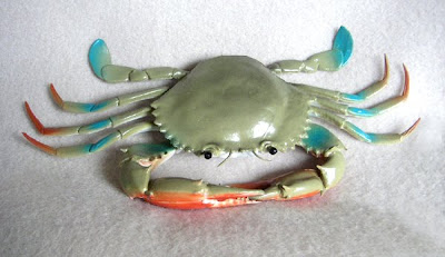 Plastic Blue Crab Replica