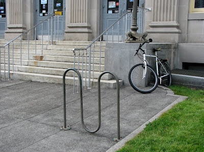 Bike Rack at the Post Office - Astoria, Oregon