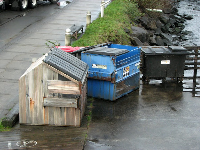 Dumpsters on the River Walk