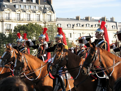 Horses on Parade in Paris