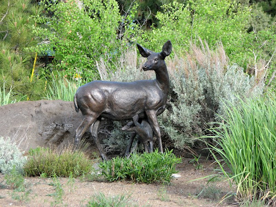 Deer and Fawn Bronze Sculpture, Bend, Oregon