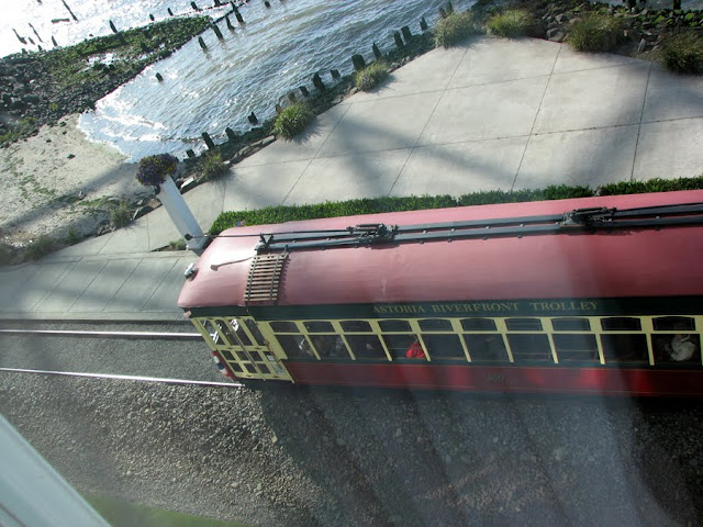 Astoria Riverfront Trolley from the Top