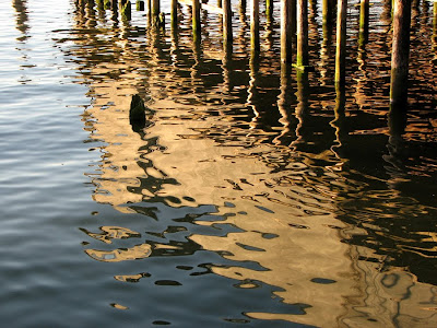 Evening Reflections and Ripples on the Columbia River, Astoria, Oregon
